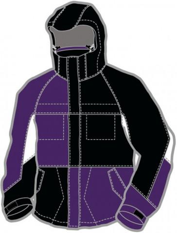 Ripzone Men Snowboard Jacke Addiction Black/White/Purple