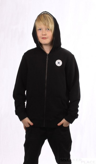 Converse Authentic Hooded Jkt Kids Schwarz
