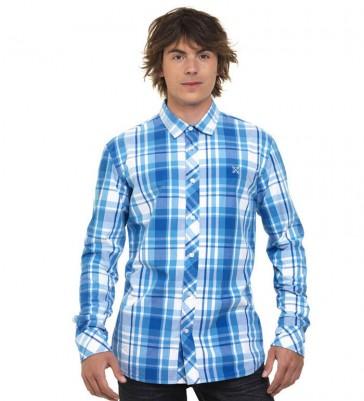 Oxbow Langarm Hemd Electric Blue