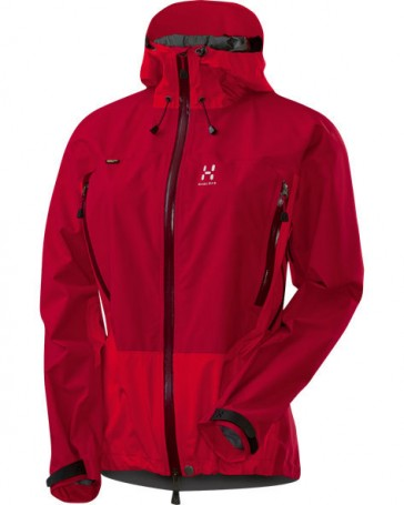 Haglöfs Electron Q Jacke Damen deep red / fire