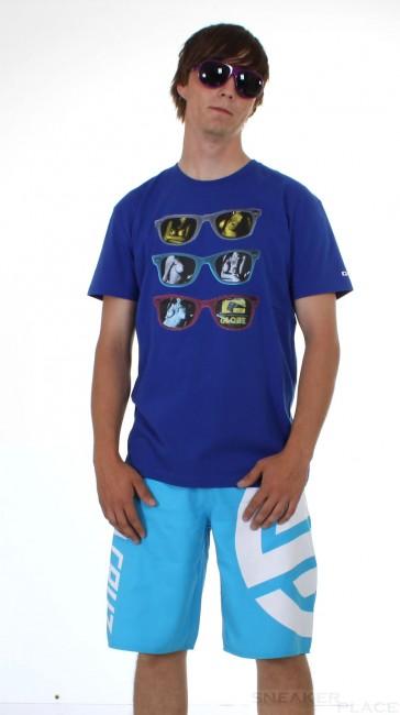 Globe Tee Girls in Glasses Blue