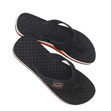 Oxbow Zehentrenner-Schuhe Leder schwarz
