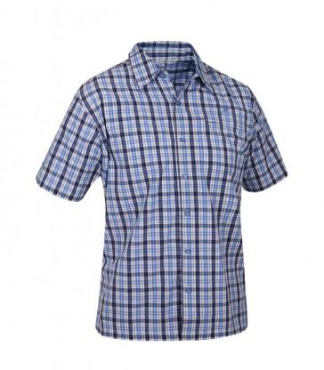 Salewa Triumph Dry Herren Hemd blau karriert