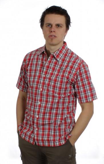 Salewa Triumph Dry Herren Hemd rot karriert