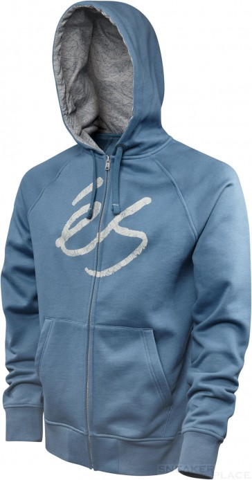 és Zip Up Kapuzenpullover Skript Fill blau