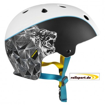 Powerslide King Helm schwarz weiß blau