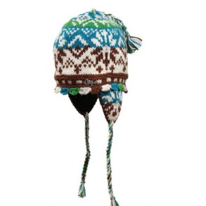 Capo Mütze bunt handgemacht mit Ohrenklappen One Size