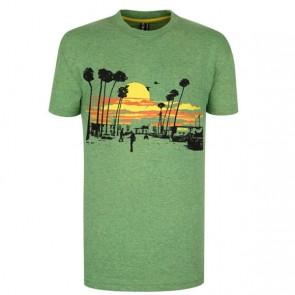 Record Kinder T-Shirt Palma grün meliert
