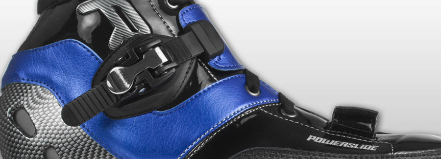 Powerslide R2 schwarz/blau Schnuerung