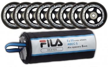 Fila 80mm Ersatzrollen mit Abec 5 Kugellager und Spacer