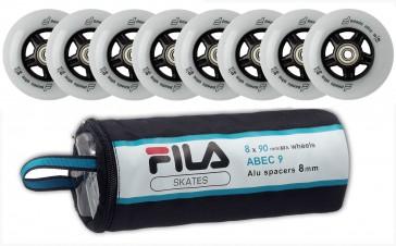 Fila 90mm Ersatzrollen mit Abec 9 Kugellager und 8mm Spacer
