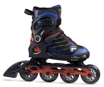Fila Wizy Alu Kinder Inline Skates schwarz blau orange