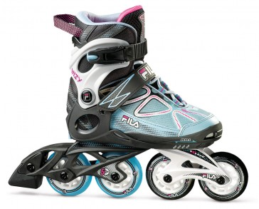 Fila Wizy Girl Mädchen Inline Skates schwarz blau rosa