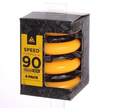 K2 90mm Rollen gelb