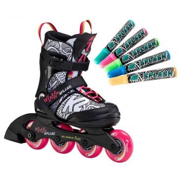 K2 Marlee Splash bemalbare Kinder Inline Skates
