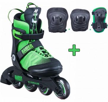 K2 Raider Pro grün mit Schutzausrüstung