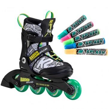 K2 Raider Splash bemalbare Kinder Inline Skates