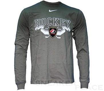Bauer IIHF Banner L/S Langarmshirt Senior Khaki