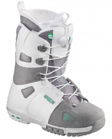 Salomon Savage Snowboard Boots weiß-grau