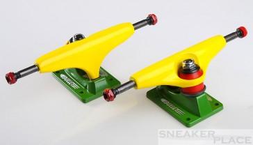 Sensi B127 Gelb/Grün Bullet Skateboardachsen Set