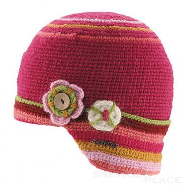 Capo Mädchen Mütze pink handgemacht