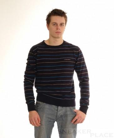 Ragwear Wollpullover Line Blau