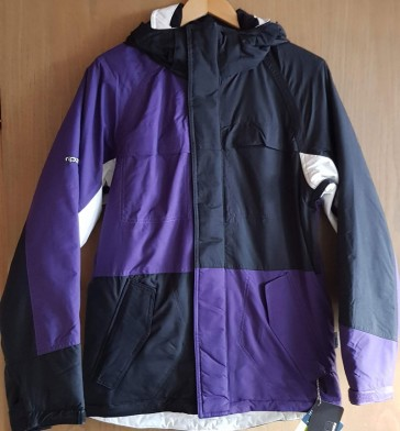 Ripzone Men Snowboard Jacke Addiction Black/White/Purple