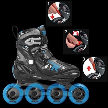 Roces Moody Boy Tif Kinder Skates blau