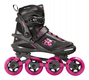 Roces PIC TIF Damen 80mm schwarz pink