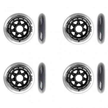 Diese Abbildung zeigt Ihnen die farblich gleich gestalteten Rollerblade 90mm Rollen ohne Kugellager