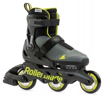 Rollerblade Microblade Free 3WD Kinder Skates anthrazit / lime