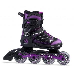 Fila Wizy Alu Mädchen Inline Skates schwarz lila