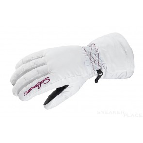 Salomon Snowboardhandschuhe white/purple iris Damen