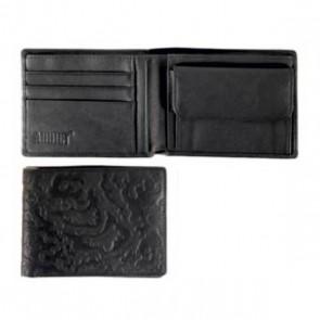 Addict Geldbörse aus Leder Schwarz oder Braun