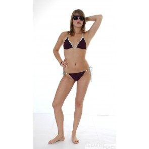 Carcharel Damen Bikini Bordeaux Triangel