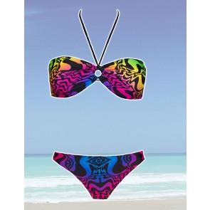Sun Projekt Bandeau Bikini neon