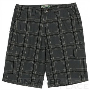 Ripzone Plaid kurze Hose carbon/black/white