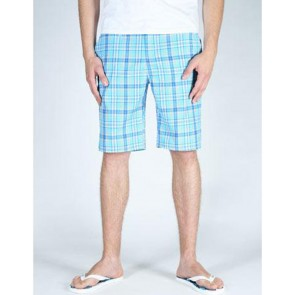 Record Rocco Sommershorts scubablue plaid