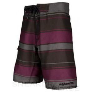 Ripzone Rugby Stripe Badehose schwarz/lila