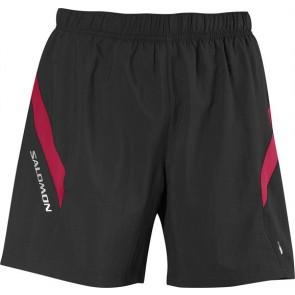 Salomon Trail III Shorts Herren schwarz/rot