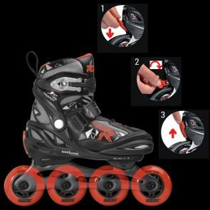 Roces Moody Boy Tif Kinder Skates rot