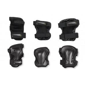 Rollerblade Evo Schutzausrüstung 3-Pack Handgelenk / Knie / Ellbogenschoner