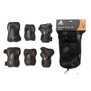 Rollerblade Kinder Schutzausrüstung schwarz/rot
