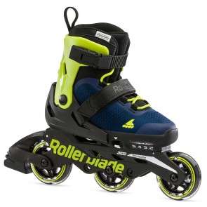 Rollerblade Microblade 3WD Kinder Skates Royal Blau / Lime