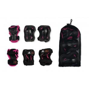 Rollerblade Kinder Schutzausrüstung schwarz/rosa