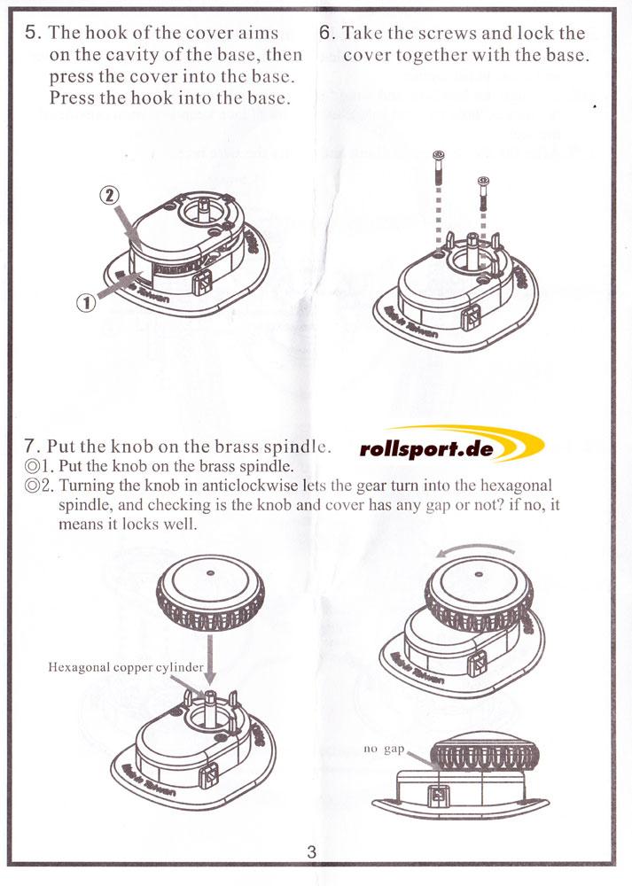 ATOP Bedienungsanleitung Schritt 5, 6 und 7