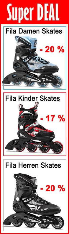 Super Deal - Fila Inline Skates - 20% nur bis 25.10.2020 - 24:00 Uhr