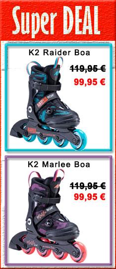 Super Deal - K2 Marlee Boa / Raider Boa - nur bis  24.09.2020 - 24:00 Uhr