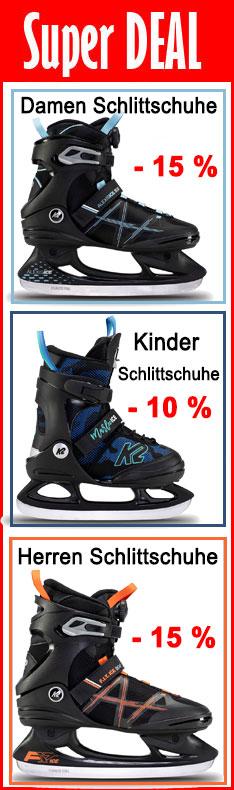 K2 Schlittschuhe -15 %<br /> Nur bis Sonntag, 25.10.2020, 24:00 Uhr!