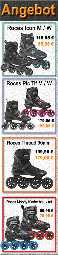 Roces Inline Skates Damen / Herren / Kinder - Im Angebot! Nur nur bis Sonntag 08.08.2021 - 24:00 Uhr